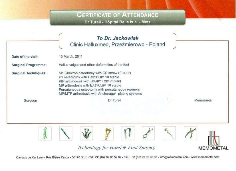 Certyfikat Zbigniew Jackowiak