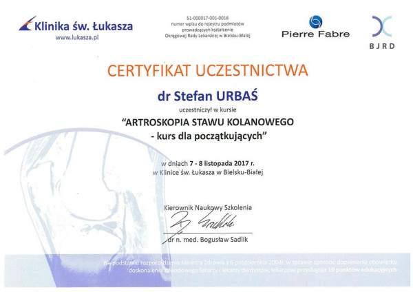 Haluksy: Certyfikat Stefan Urbaś