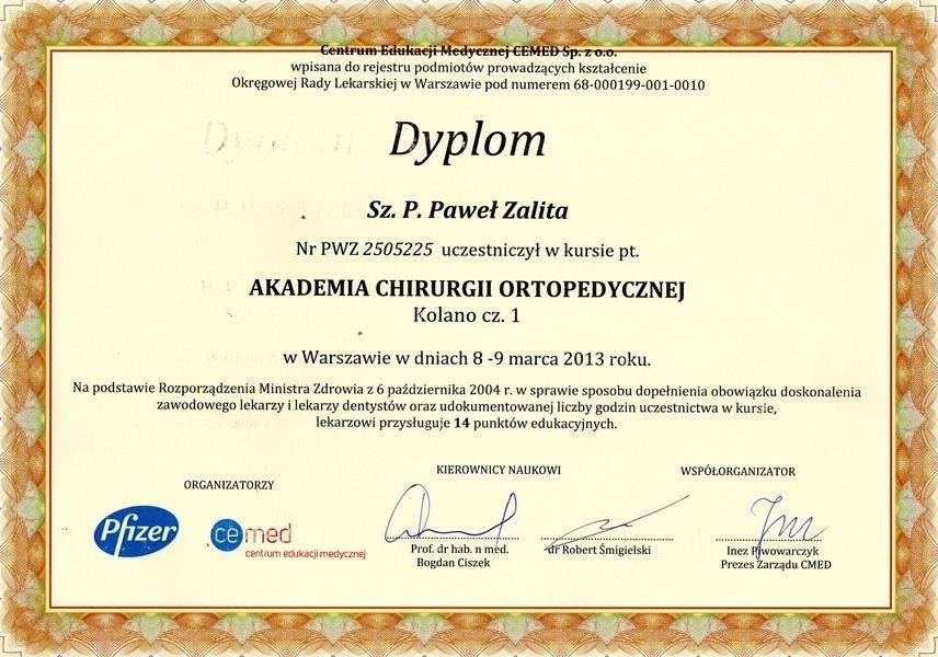 Haluksy: Certyfikat